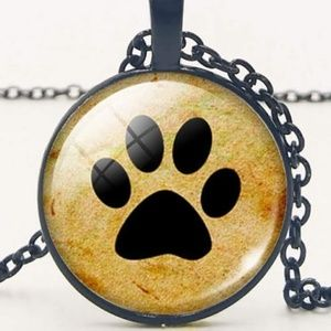 Jewelry - Necklace- NEW- Dog Paw Print -19 inch Chain